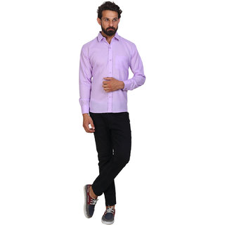 678c708947 Buy Akaas Men s Purple Solid Button down Slim Fit Formal Shirt ...