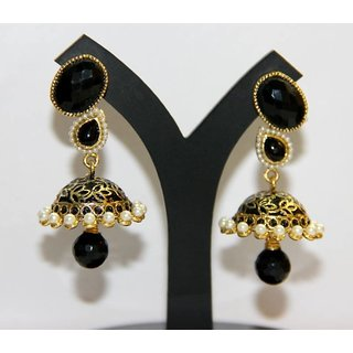 Artificial Jhumka Earring Black In India Shopclues Online
