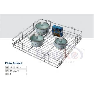 Plain kitchen basket ( 15-18-4 inch ) stainless steel basket