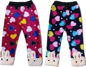 Stylish Leggings for Girl (Set of 2 Soft Velvet Winter wear)