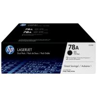 HP CE278A 78A Dual Black Toner Cartridge