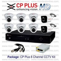 CP Plus HD 1.0MP 8 Channel CCTV System Kit Set with All Accessories