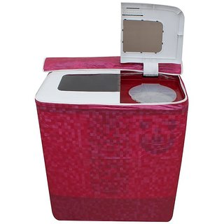 Dream Care Pink Colour with Square Design Washing Machine Cover for Semi Automatic  LG P7853R3SA 6.8 KG