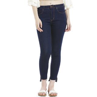 hem hi-low slit jeans