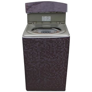 Dream Care Brown Colour with Square Design Washer Cover for Fully Automatic Top Loading Onida WS65WLPT1LR  6.5 KG