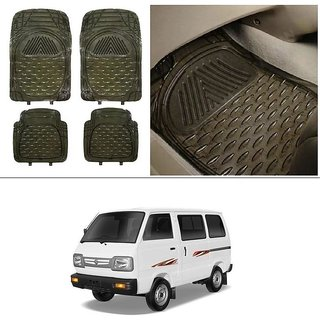 AutoStark Transparent Black Car Floor / Foot Mats For Maruti Suzuki Omni (Maruti Van)