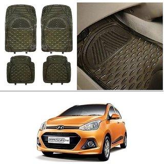 AutoStark Transparent Black Car Floor / Foot Mats For Hyundai Grand I10