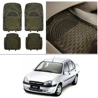 Buy Autostark Transparent Black Car Floor Foot Mats For Ford Ikon