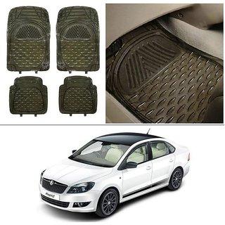 Buy Autostark Transparent Black Car Floor Foot Mats For Skoda