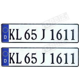 car number plate IND Roman Font