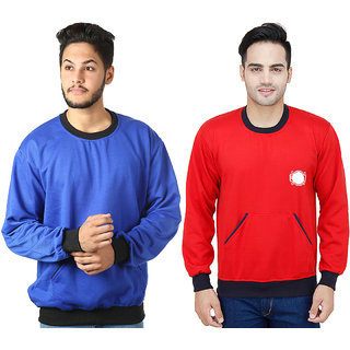 kristofer Men's Multicolor Solid Sweatshirt Pack of 2