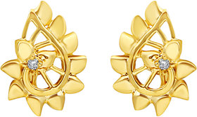 MJ Flawless CZ Gold Plated Stud Earring For Women