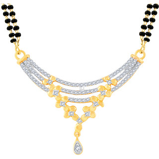 MJ Adorable CZ Gold Plated Mangalsutra For Women