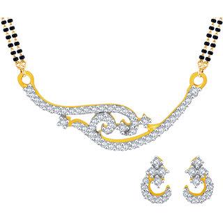 MJ Beautiful CZ Gold Plated Mangalsutra Set For Women