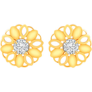 MJ Long-lasting CZ Gold Plated Stud Earring For Women