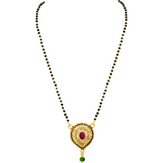 MJ Striking Gold Plated Mangalsutra For Women