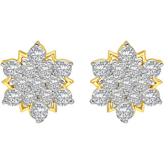 MJ Adorable CZ Gold Plated Stud Earring For Women