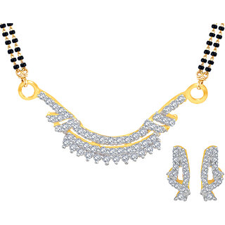 MJ Long-lasting CZ Gold Plated Mangalsutra Set For Women