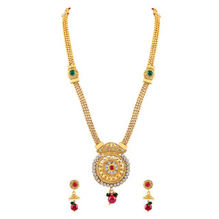 MJ Fashionable Gold Plated Necklace Set For Women