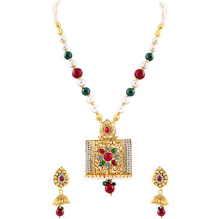 MJ Long-lasting Gold Plated Necklace Set For Women
