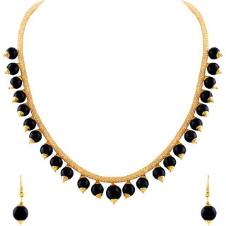 MJ Smoky Gold Plated Necklace Set For Women