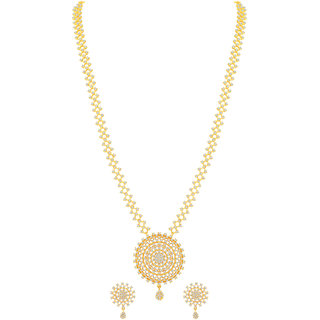 MJ Structural One Gram Gold Plated Necklace Set For Women