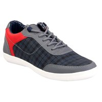 AADI Men's Grey Smart Casual Shoes
