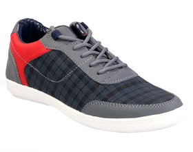 AADI Men's Grey Smart Casual Shoes
