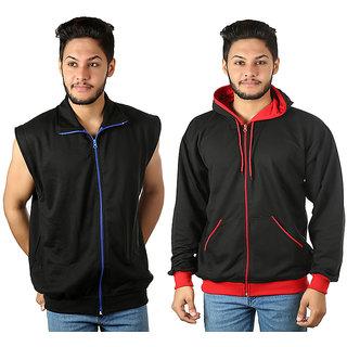 kristofer Men's Multicolor Solid Sweatshirt Pack of 2
