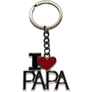 PujaShoppe I Love Papa Key Chain