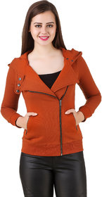 Texco Women'S Tan Full Sleeves Zippered Jackets