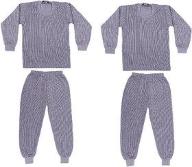 Belmarsh Kids Top And Pyjama Set Light Grey- Pack of 2
