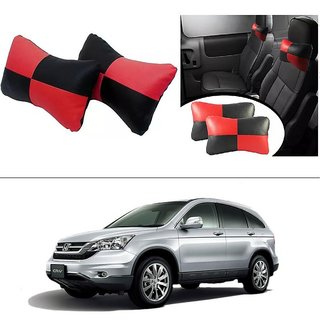 AutoStark Designer Car Seat Neck Cushion Pillow - Red and Black Colour For Honda CRV (Till 2014)