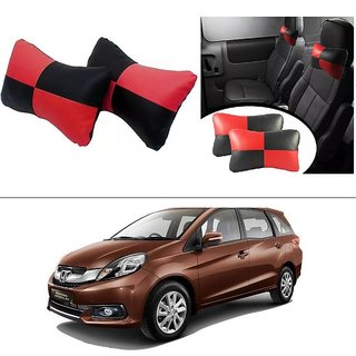 AutoStark Designer Car Seat Neck Cushion Pillow - Red and Black Colour For Honda Mobilo