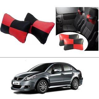 AutoStark Designer Car Seat Neck Cushion Pillow - Red and Black Colour For Maruti Suzuki SX4