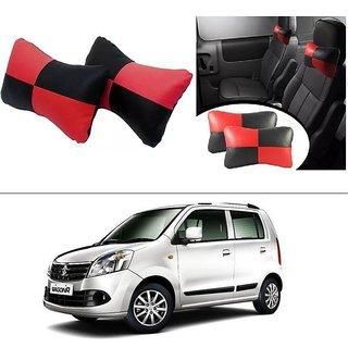 AutoStark Designer Car Seat Neck Cushion Pillow - Red and Black Colour For Maruti Suzuki Wagon R