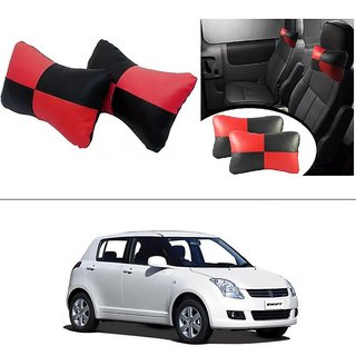 AutoStark Designer Car Seat Neck Cushion Pillow - Red and Black Colour For Maruti Suzuki Swift