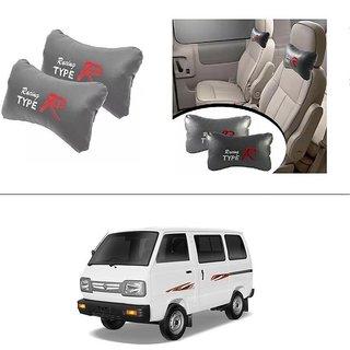 AutoStark Type R Car Seat Neck Cushion Pillow - Grey Colour For Maruti Suzuki Omni (Maruti Van)