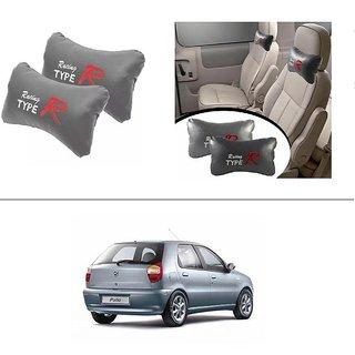 AutoStark Type R Car Seat Neck Cushion Pillow - Grey Colour For Fiat Palio D