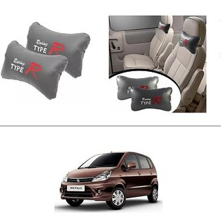 AutoStark Type R Car Seat Neck Cushion Pillow - Grey Colour For Maruti Suzuki Zen Estilo