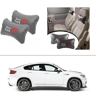 AutoStark Type R Car Seat Neck Cushion Pillow - Grey Colour For BMW X-6