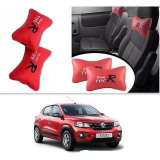 AutoStark Type R Car Seat Neck Cushion Pillow - Red Colour For Renault kwid