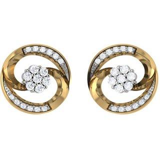 Shreeji Jewels Gold Plated Gold Studs for Women's