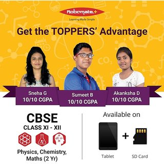 Lakshya Institute Robomate+ Class 11-12 CBSE Video Lectures - PCM -  Physics, Chemistry, Maths  2017-19 (2 Yrs) (Tablet)