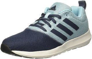 Adidas Women's Blue,Aqua Lace-up Running Shoes