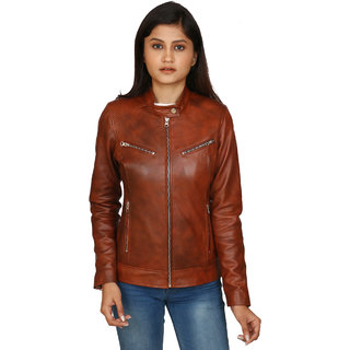 Buy C Comfort Womens Leather Jacket EJ107 Online - Get 48% Off f0cf4f449