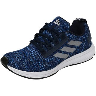 Adidas Mens Black Blue Lace-up Running Shoes