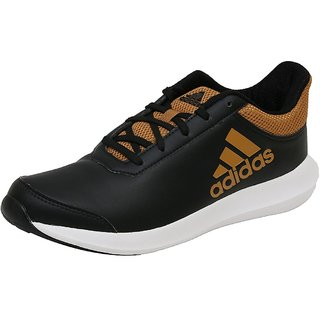 Adidas Mens Black Lace-up Running Shoes