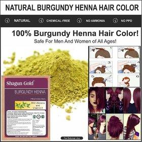 Shagun Gold Hair Colour Powder Burgundy Henna 200g
