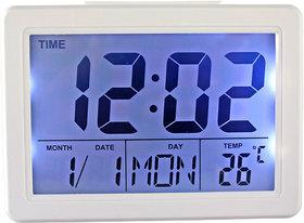 Voice Control Sound Sensor Calendar Alarm Table Clock Thermometer Timer 192